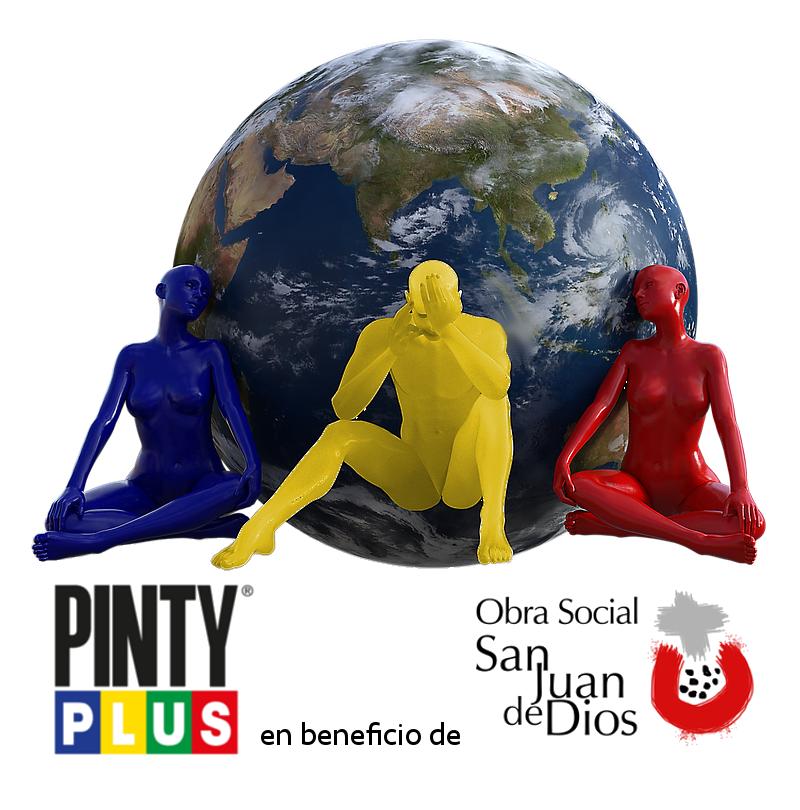 pintyplus con la obra social de san juan de dios