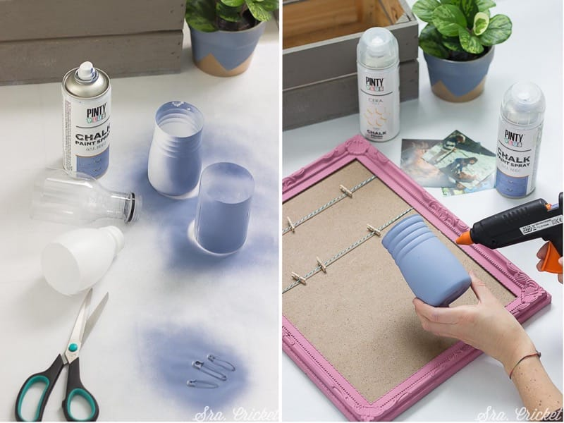 decorate the wall of a desk with chalk spray paint Pintyplus