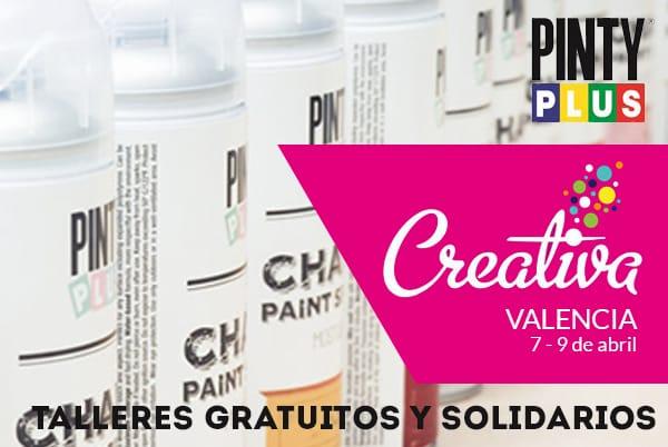 talleres solidarios Pintyplus en Creativa Valencia