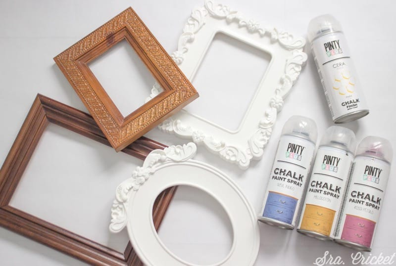 painting materials frames with chalk spray paint Pintyplus