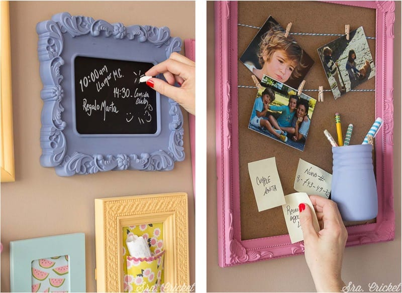 decorar la pared de un escritorio con chalk paint en spray Pintyplus