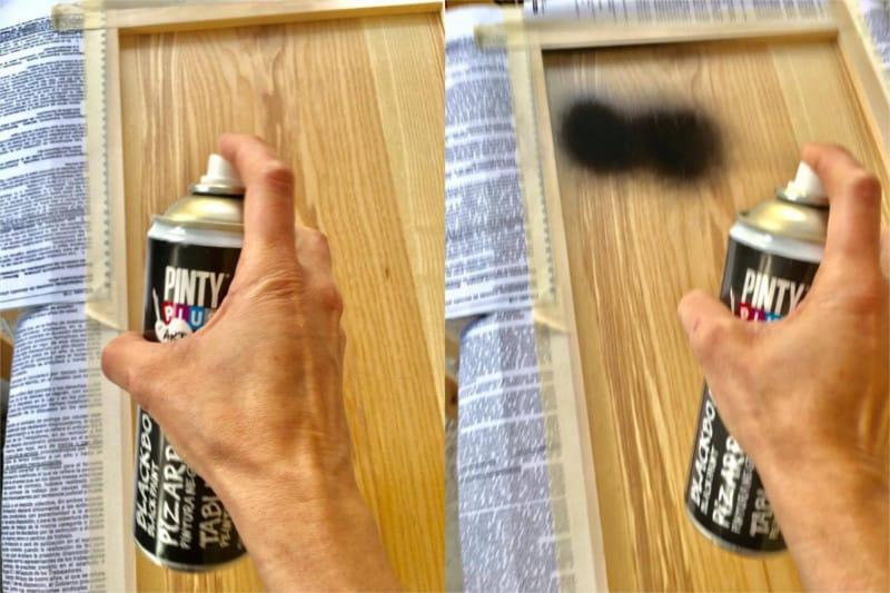 reciclar puertas de armarios con pintura en spray