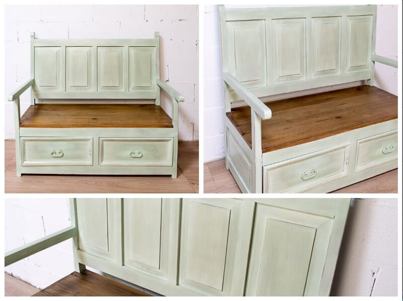 cómo pintar un mueble de madera rica en taninos con chalk paint en spray