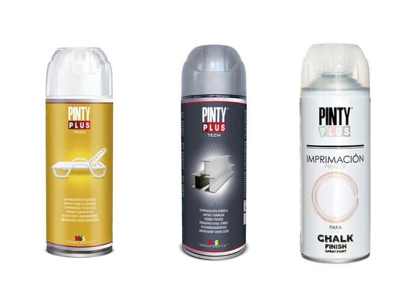 diferentes tipos de imprimación en spray Pintyplus