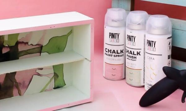 caja de vino decorada con chalk paint