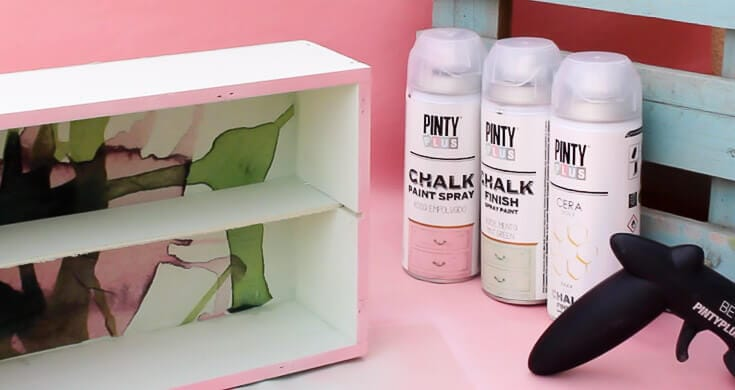 caja de vino decorada con chalk paint