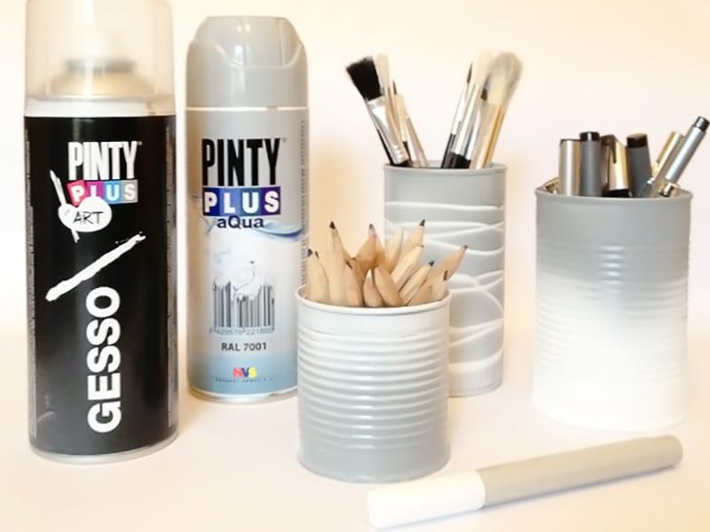 lapicero DIY con latas de conservas