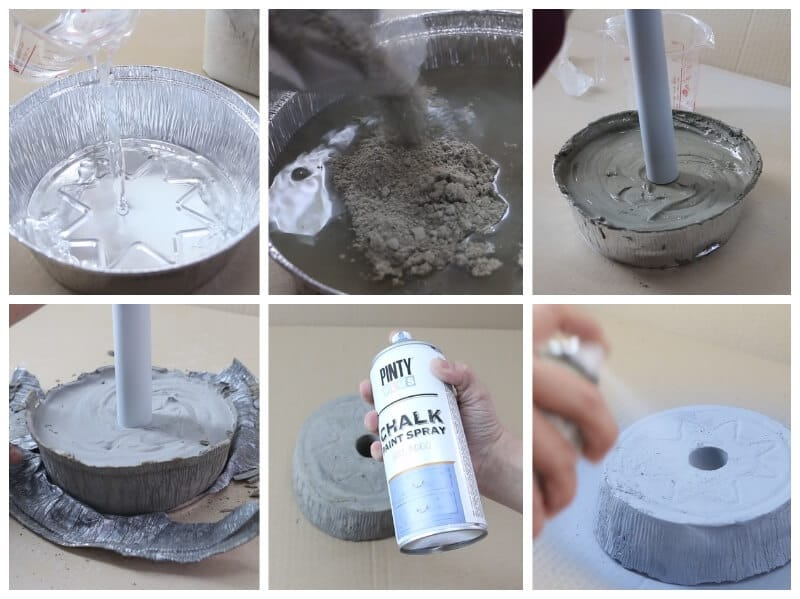 De tuber a a perchero de pie diy upcycling con pintura en - Como hacer un perchero de pie ...