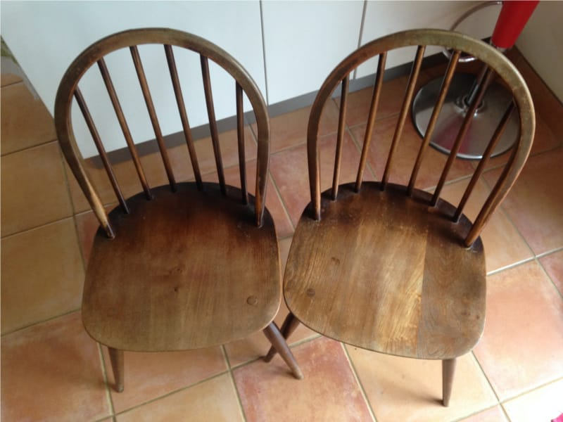 restore chairs with spray paint