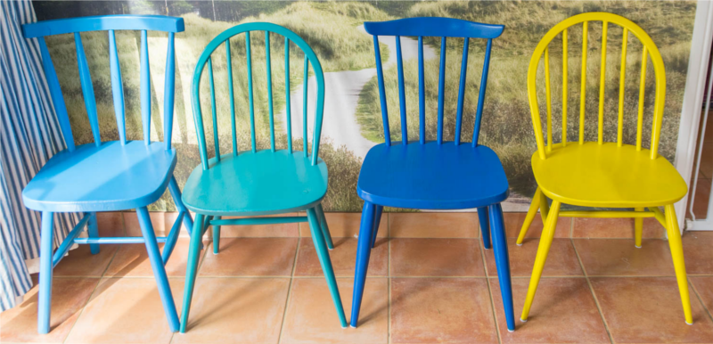 chairs decorate with different colors