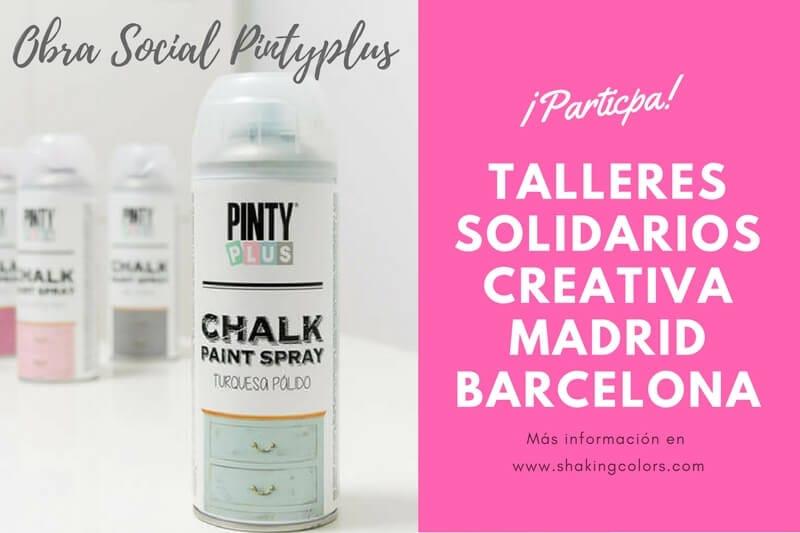 talleres solidarios Pintyplus Salón Creativa Madrid y Barcelona