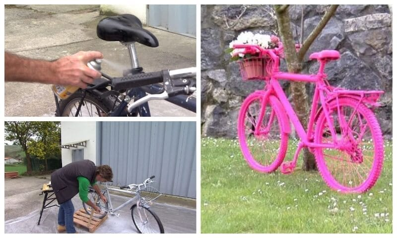Ideas creativas shakingcolors for Pintar bicicleta spray