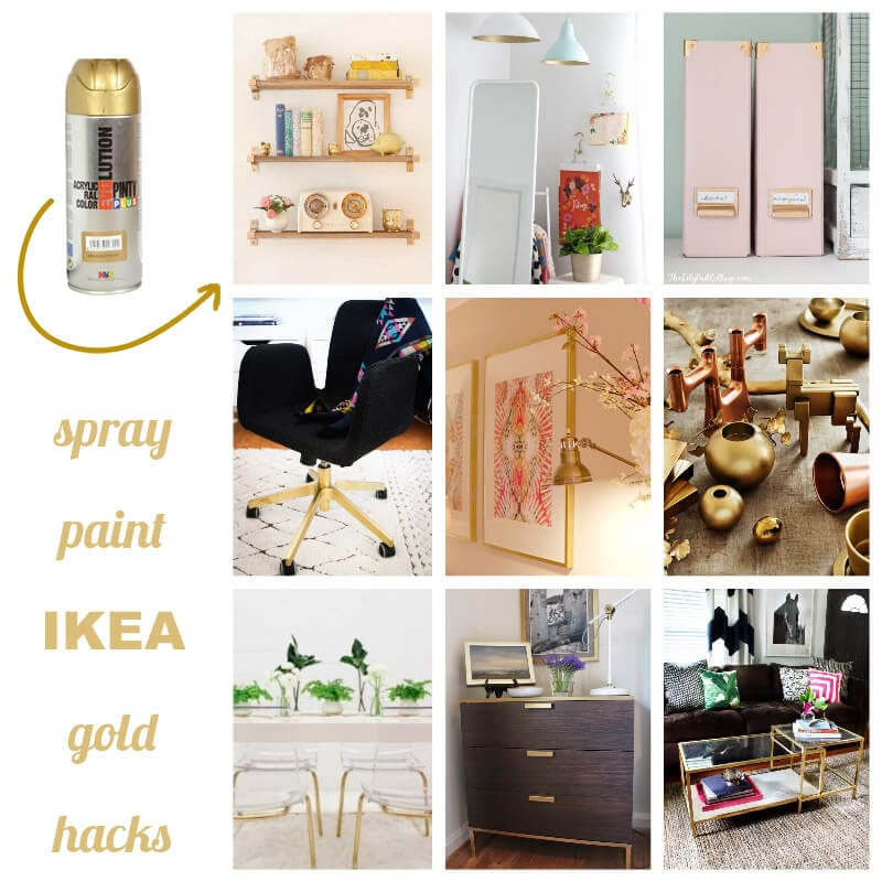 Ikea hacks con pintura en spray