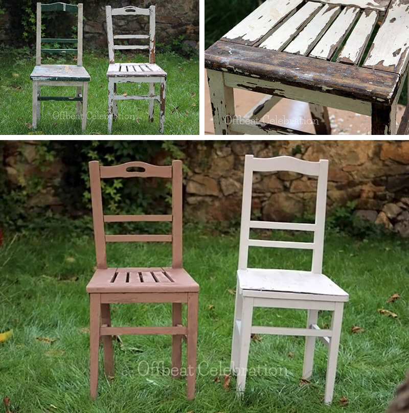 restaurar sillas con chalk paint en spray