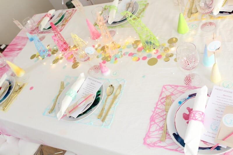 decorar la mesa en Navidad con tonos pastel