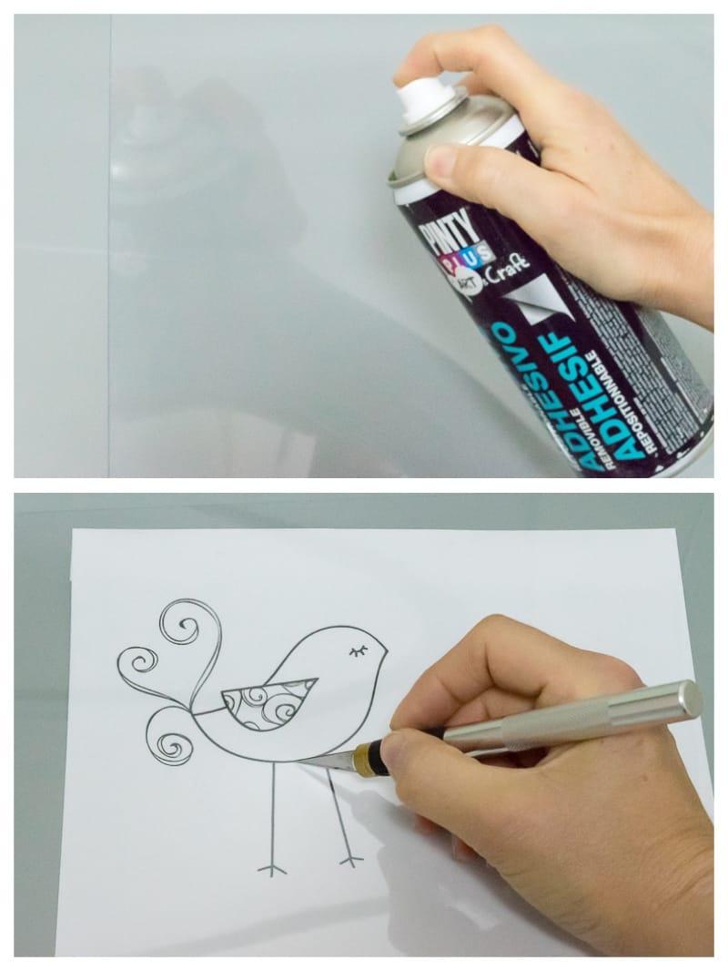 cómo hacer plantillas de stencil baratas