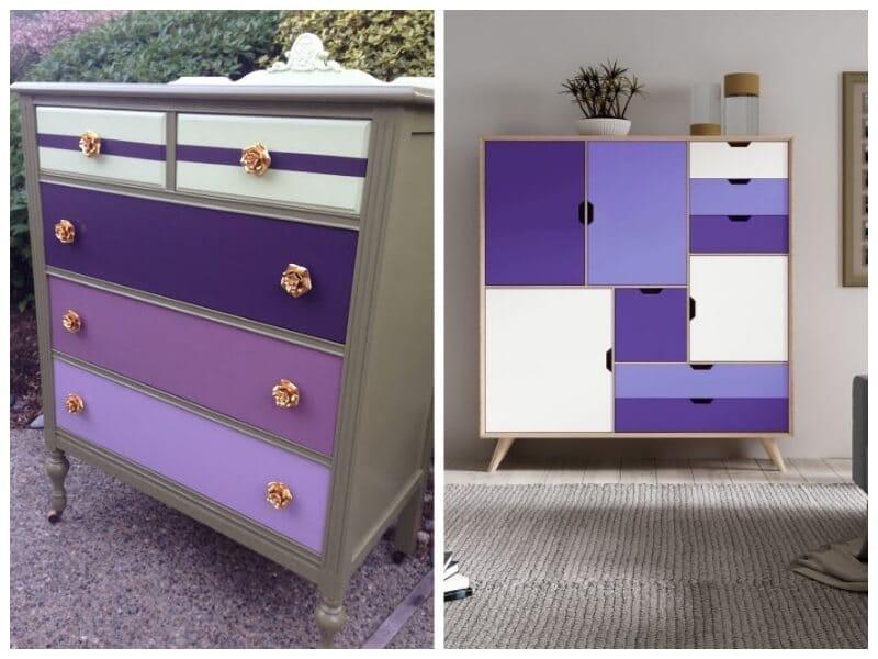 ultra violet combinado con otros tonos morados