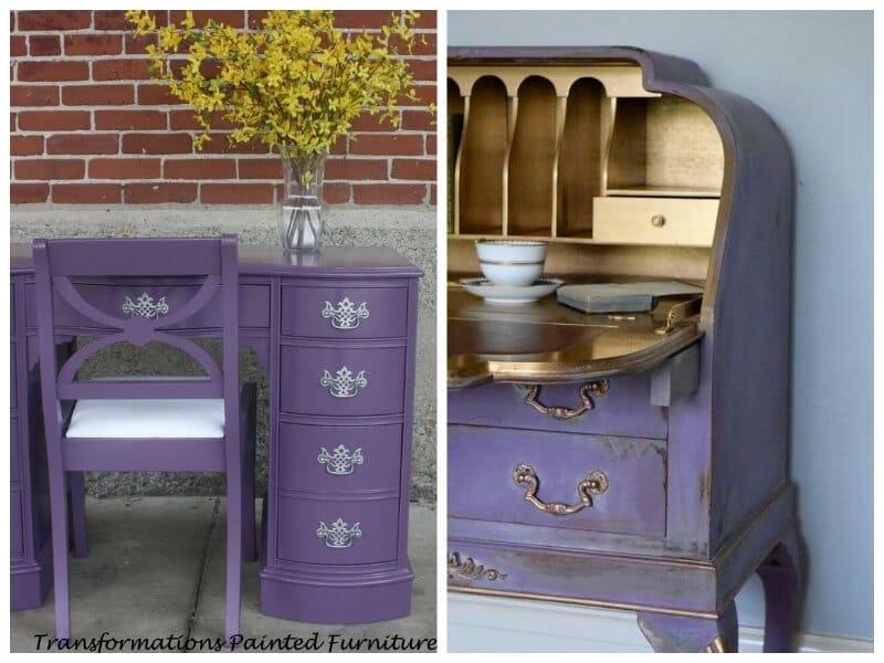 pintar mobiliario clásico con ultra violet de Pantone