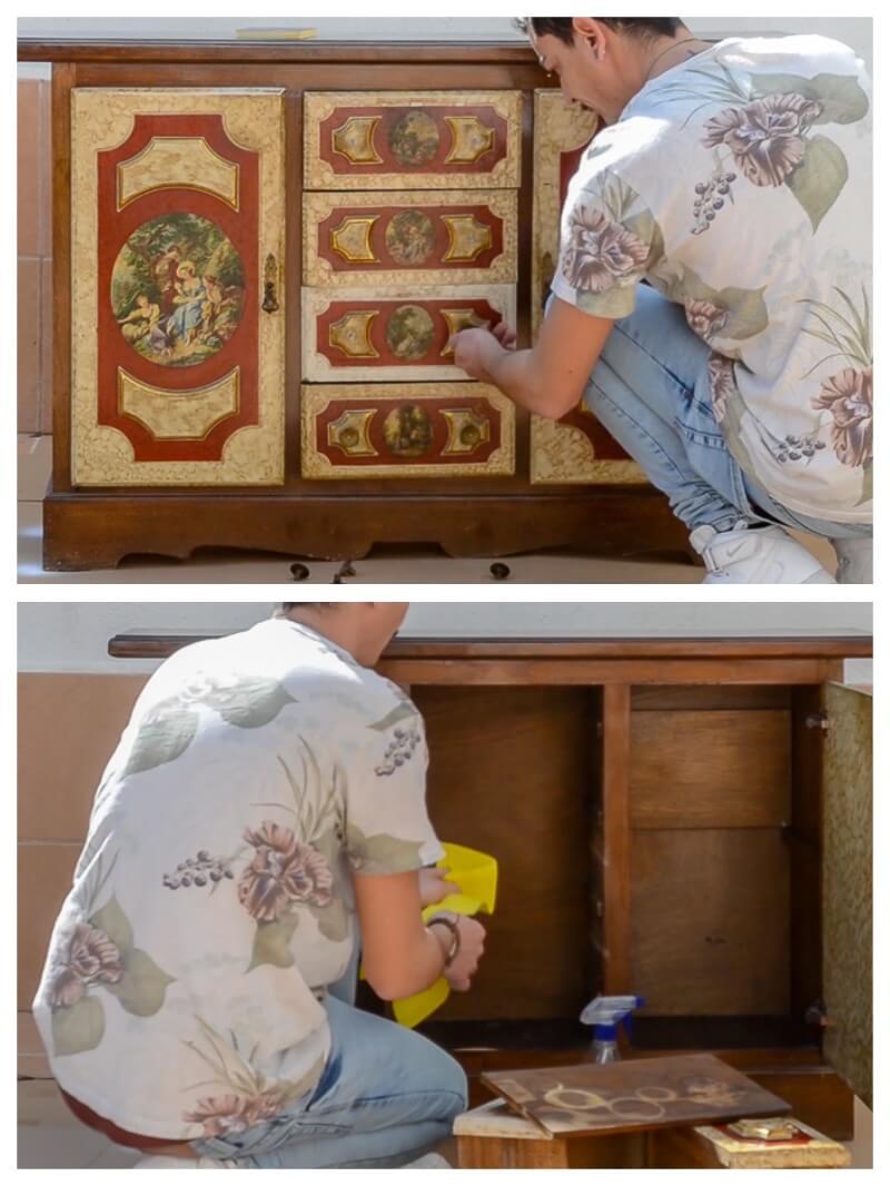 preparación antes de pintar un mueble