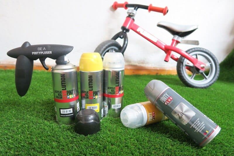 materiales para pintar una bici