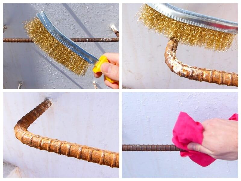 eliminar el óxido para proteger el metal de la corrosión