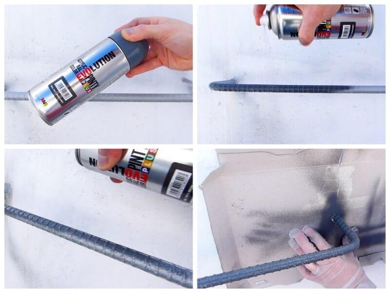 aplicar una pintura de acabado al metal