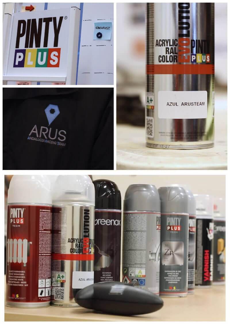 productos en aerosol para patrocinio de un equipo de Fórmula Student