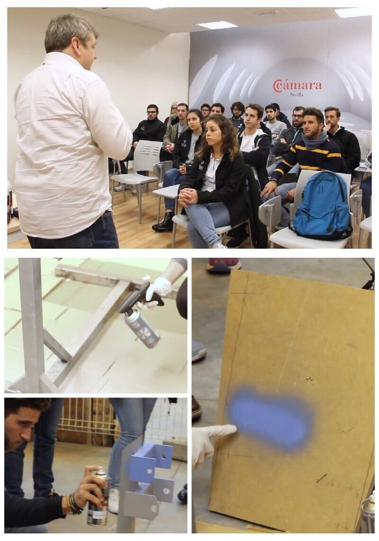 taller de formación sobre productos en aerosol