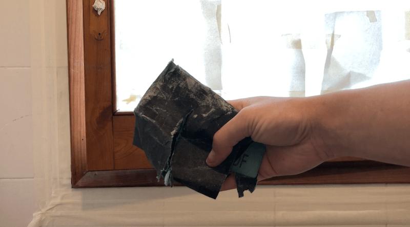 Lijado superficial - preparación ventana