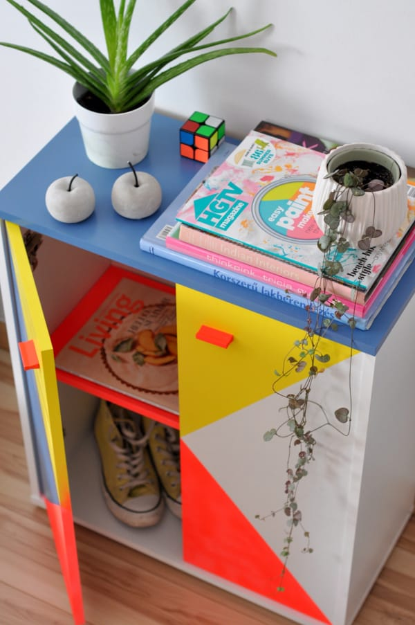 Mueble de melamina pintado con spray Pintyplus