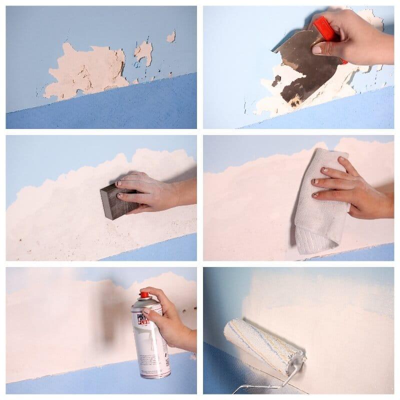 cómo arreglar la pared cuando ha saltado la pintura