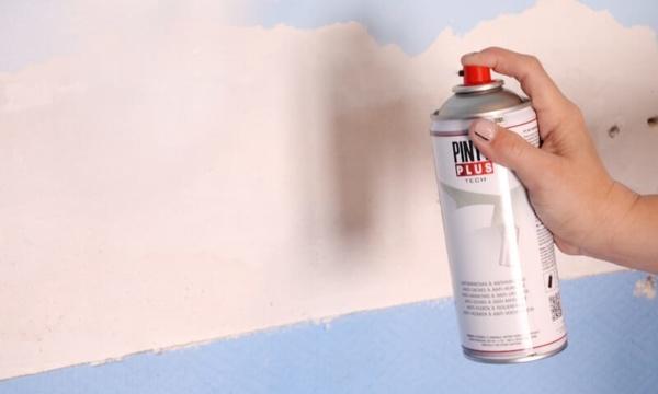 quitar manchas de humedad con pintura antihumedad en spray