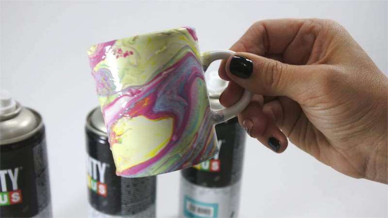 Marmolado con pintura en spray