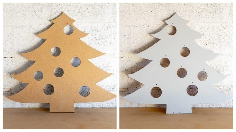 árbol de Navidad DIY pintado con Pintyplus Evolution