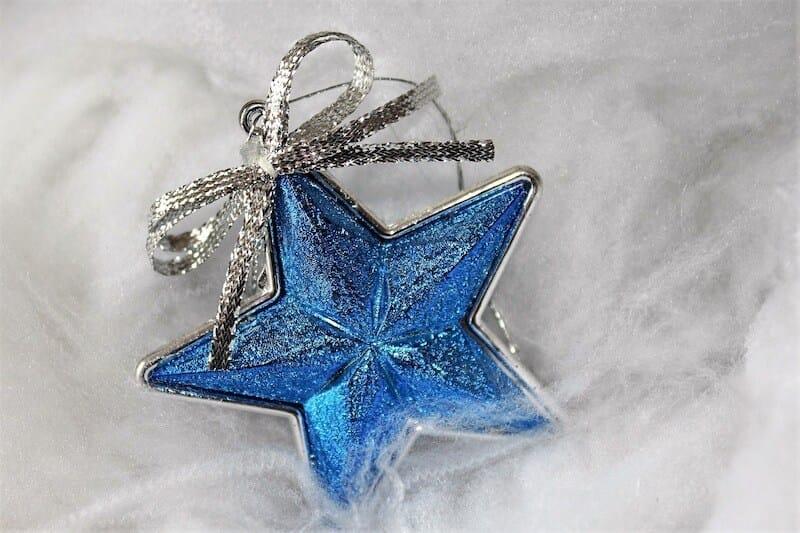 decorar la Navidad con azul