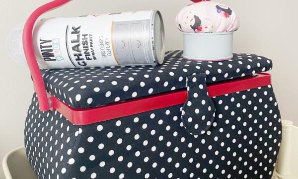 Alfiletero handmade con una lata reciclada y Chalk Paint de Pintyplus