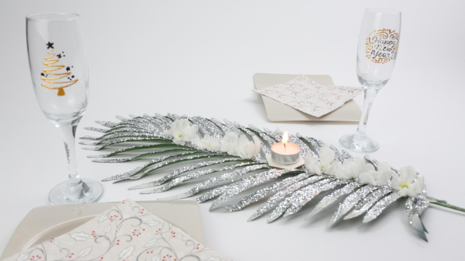 centro mesa navidad con Pintyplus y shakingcolors