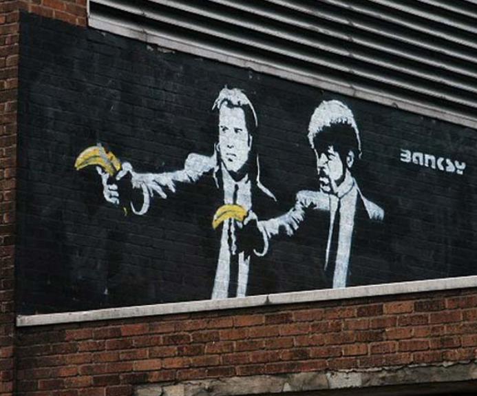 pintura en spray artistico Bansky