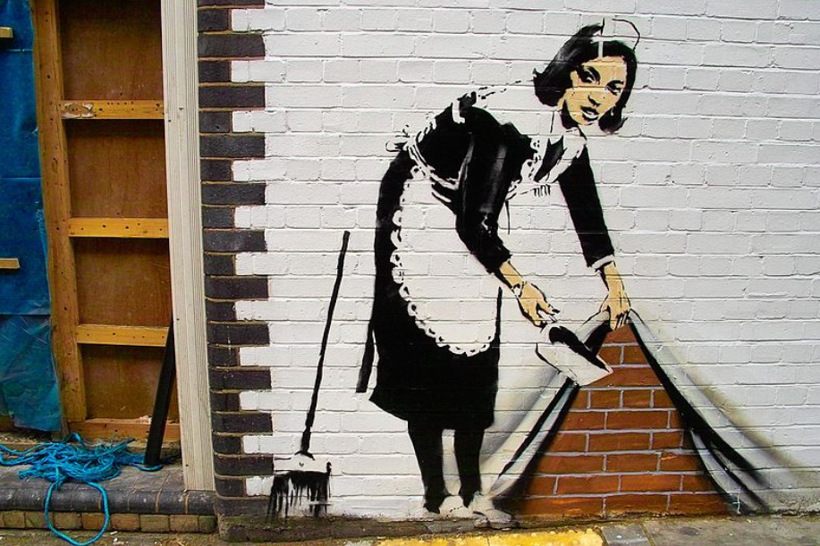 pintura en spray y grafitti Bansky