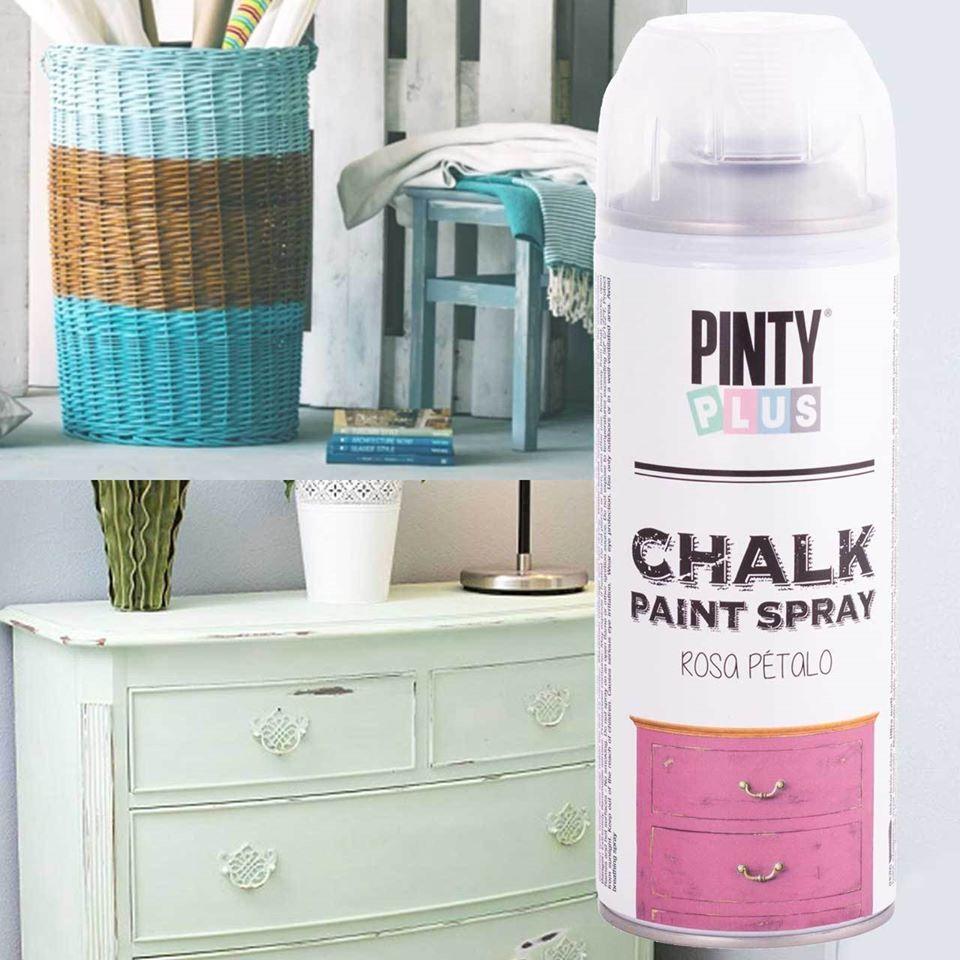 pintura a la tiza pintar madera con spray