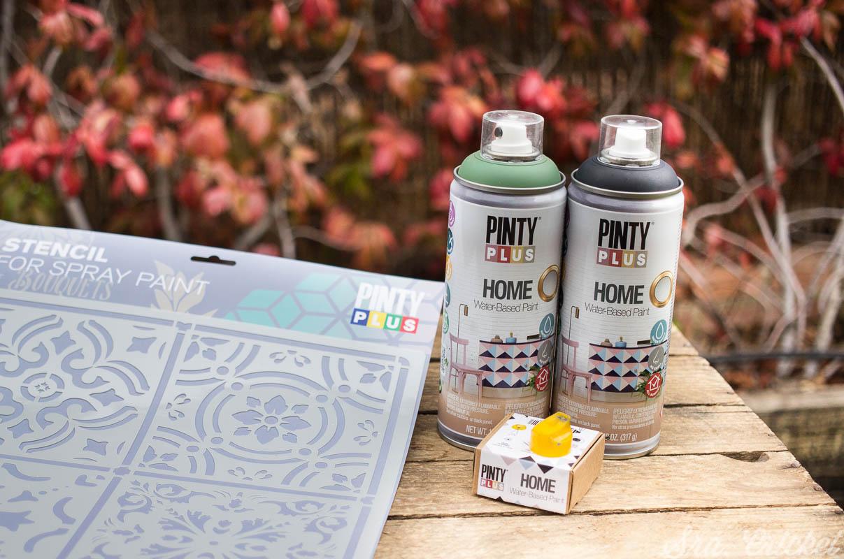 Pintiplys Home para pintar mesas decorativas y stencil para decorarlas