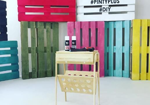 Ideas decoracion de casa con palets y aerosol de pintura HOME