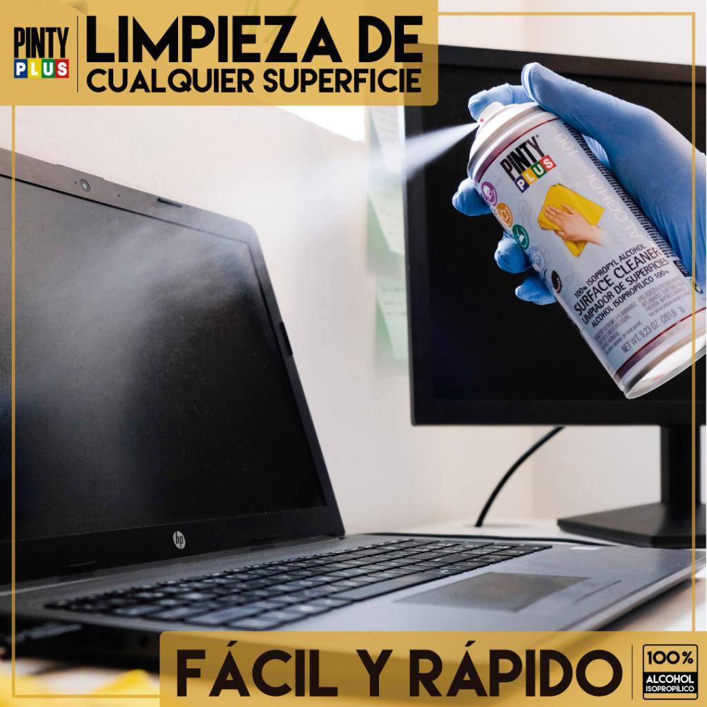 aerosol limpiador alcohol isopropilico de aparatos electrónicos como ordenadores y telefonos moviles