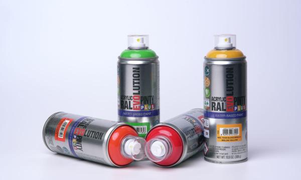 Pintura spray base agua